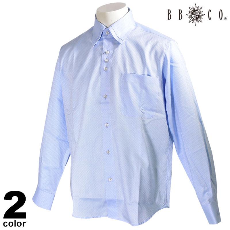 BBCO ビビコ 長袖 カジュアルシャツ メンズ 2020春夏 二枚衿 刺繍 01-1151-12