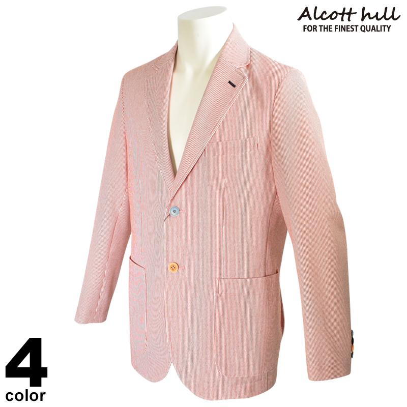 ALCOTT HILL アルコットヒル 長袖 テーラードジャケット メンズ 2020春夏 ストライプ 01-4105-10