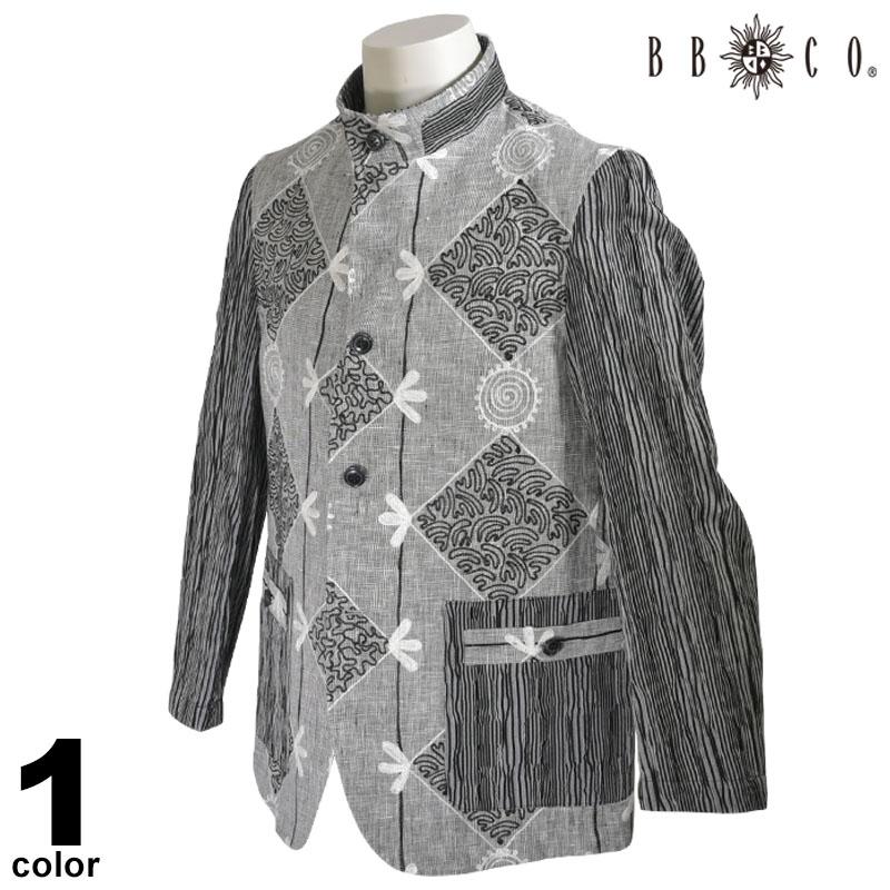 BBCO ビビコ 長袖 ジャケット メンズ 2020春夏 総柄 刺繍 01-4503-12