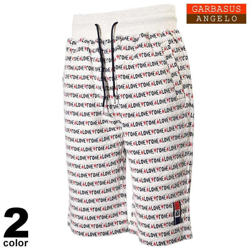 ANGELO GARBASUS アンジェロガルバス ハーフパンツ メンズ 2020春夏 LOVE ボーダー ロゴ 01-5504-03