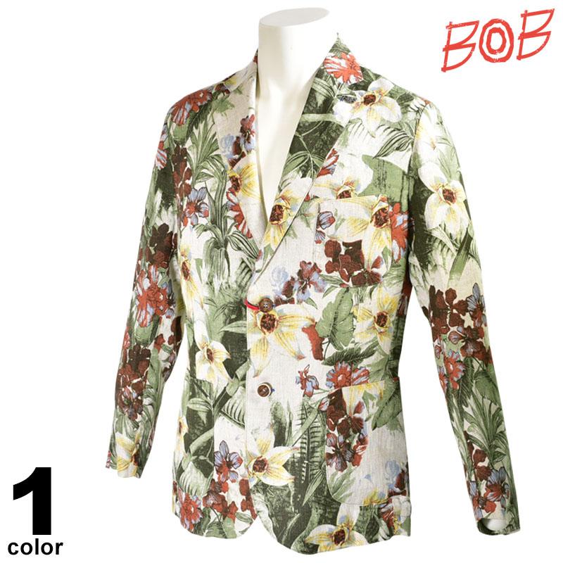 BOB ボブ 長袖 ジャケット メンズ 2020春夏 ハイビスカス柄インポート 04-4101-59
