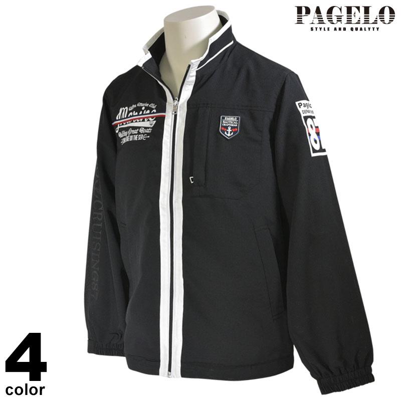 大きいサイズ PAGELO パジェロ 長袖 ブルゾン メンズ 2020春夏 メッシュ ジップアップ ロゴ 01-3114-071