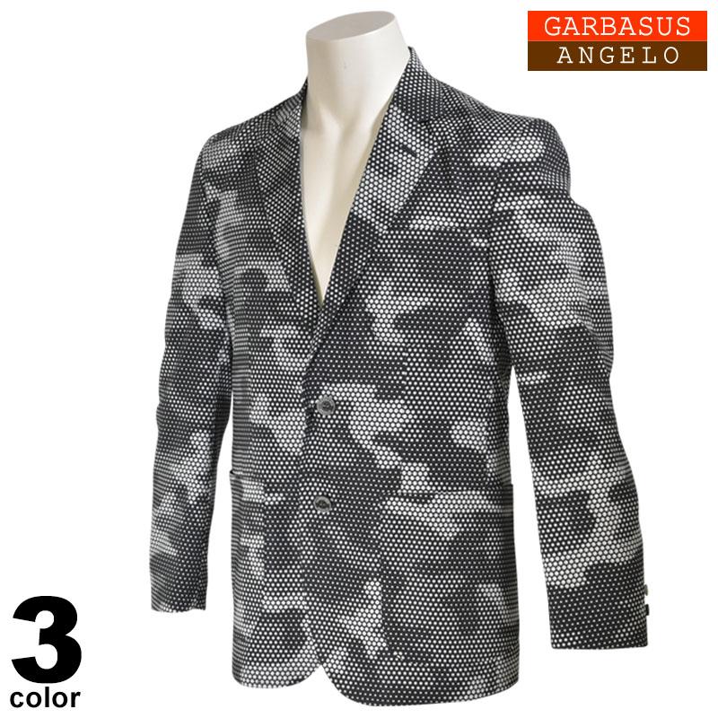 アンジェロガルバス ANGELO GARBASUS 長袖 ジャケット メンズ 2020春夏 迷彩 ドット柄 01-4106-03