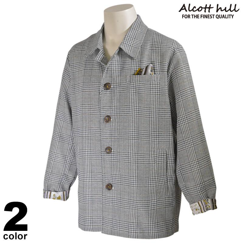 ALCOTT HILL アルコットヒル 長袖 ジャケット メンズ 2020春夏 チェック柄 ロゴ 01-4501-10