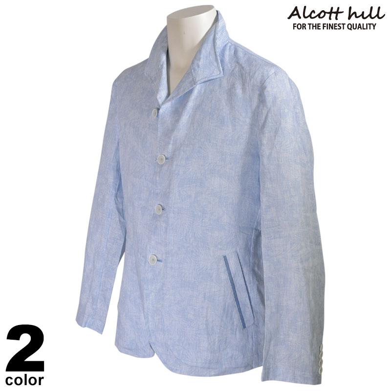 ALCOTT HILL アルコットヒル シャツジャケット メンズ 2020春夏 ストライプ プリント 01-4505-10