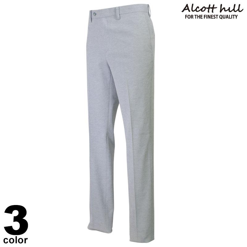 ALCOTT HILL アルコットヒル ロングパンツ メンズ 2020春夏 ストレート 花柄 ロゴ 01-5305-10