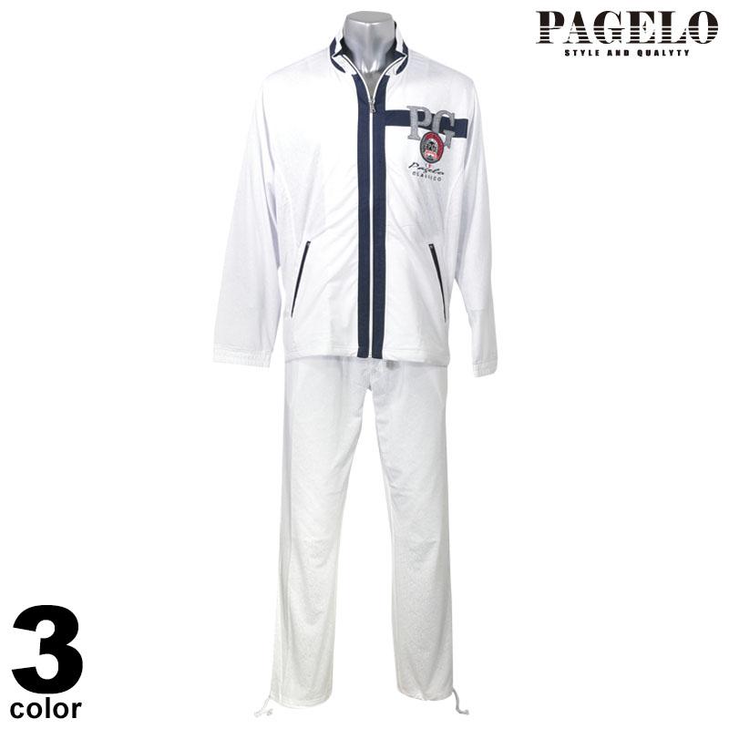 PAGELO パジェロ 長袖 上下スウェット メンズ 2020春夏 ジップアップ セットアップ ロゴ 01-6101-07