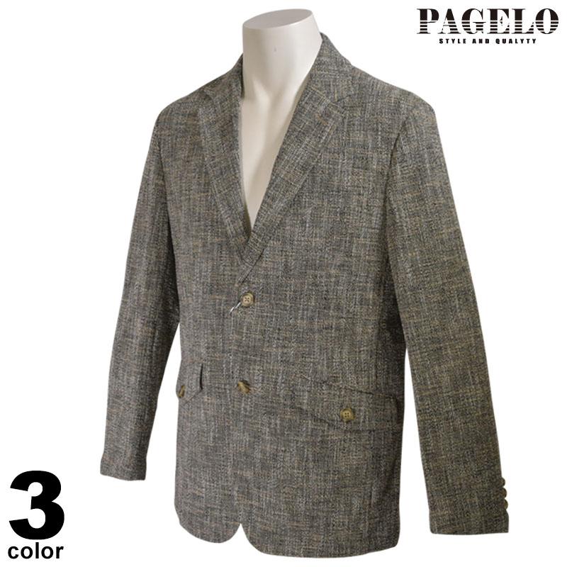 パジェロ PAGELO 長袖 テーラードジャケット メンズ 2020春夏 花柄 04-4121-07c