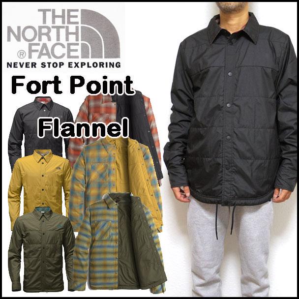 ノースフェイス ジャケット メンズ THE NORTH FACE FORT POINT FLANNEL リバーシブル アウター 中綿 05P03Dec16