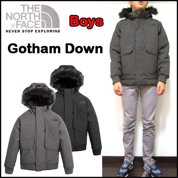 ノースフェイス キッズ ダウンジャケット 男の子 BOYS GOTHAM DOWN 17新作 120 130 140 150 160 170cm 黒 グレー