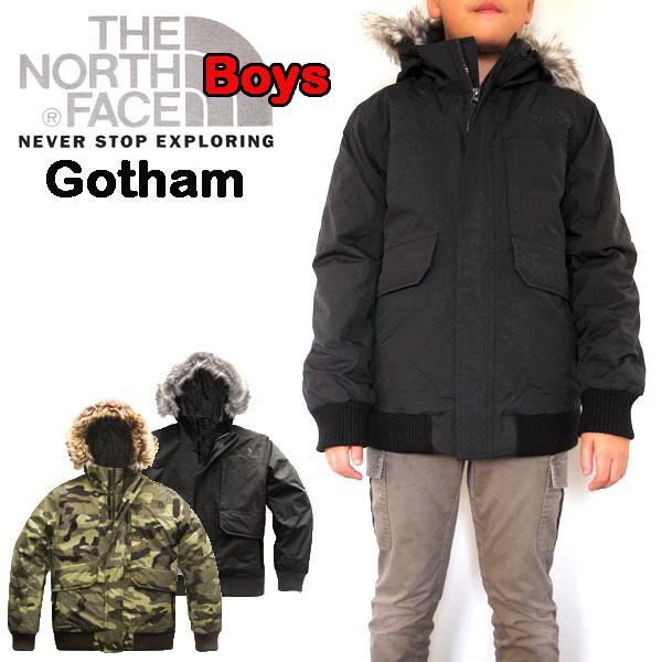 ノースフェイス THE NORTH FACE キッズ ダウンジャケット 男の子 BOYS GOTHAM DOWN 18新作 120 130 140 150 160 170cm 黒 グレー