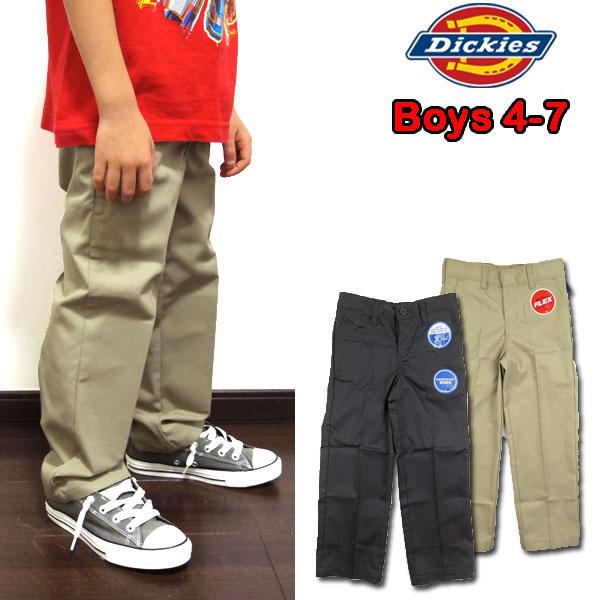 Dickies Boys Flex Waist Flat Front Pant