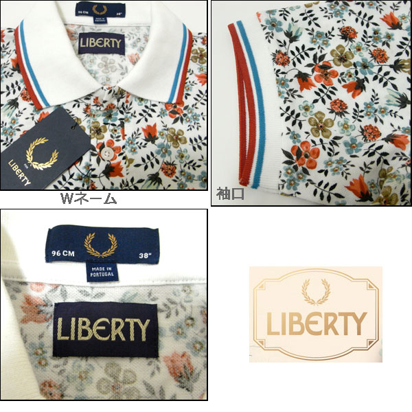 Fred Perry / liberty live print collaboration polo shirt and flower pattern