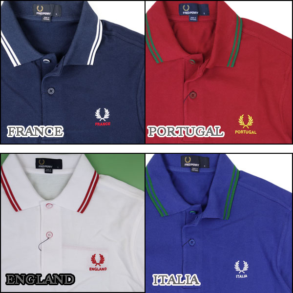 9e7113022 FRED PERRY (Fred Perry) than World Cup memorabilia! Country Polo (カントリーポロ)  is in stock now. Coloring the representative team is superb!