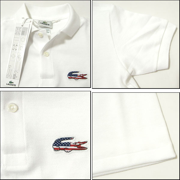 boys white lacoste t shirt