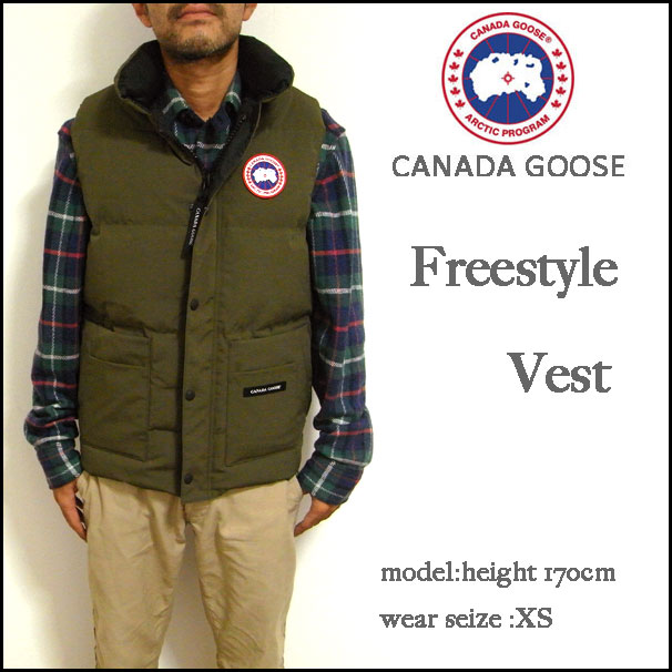 CANADA GOOSE / Canada goose [], FREESTYLE VEST (free style best) is in stock now! In the atmosphere, retro logo chest patch down vest