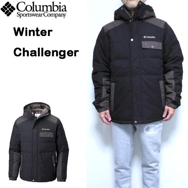 コロンビア COLUMBIA ダウンジャケット メンズ Winter Challenger Hooded Down 18新作 防寒 アウター S M L