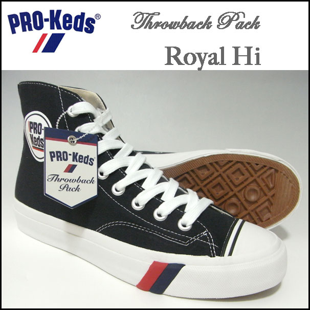 Pro-Keds/专业Keds/高cut运动鞋/皇家/Throwback Pack Royal Hi/黑色/低下背/PMC44088 02P05Dec15