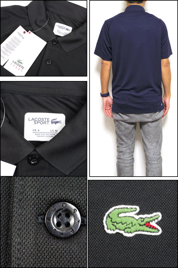 LACOSTE/拉科斯特/开领短袖衬衫/人/DH9631/ULTRA DRY SOLID POLO/插肩式05P03Dec16