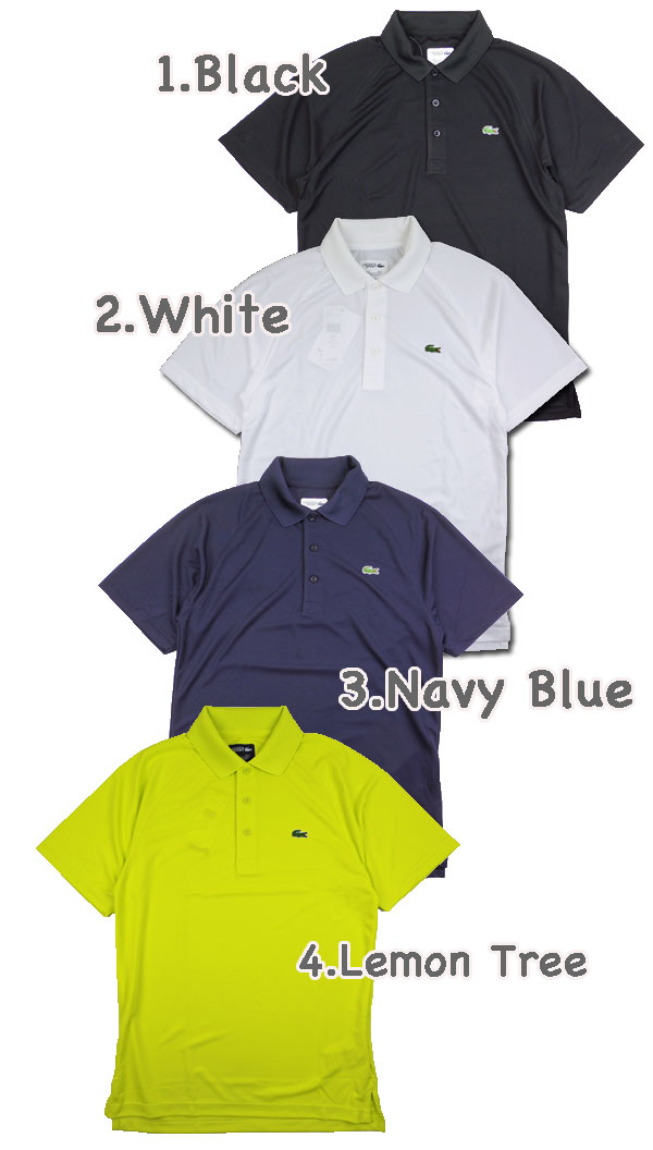 LACOSTE / Lacoste / Polo shirts / men's /PH7423/Mens BLACK CROC POLO and black crocodile polo shirt and big logo / ビッグクロコ / ビズポロ