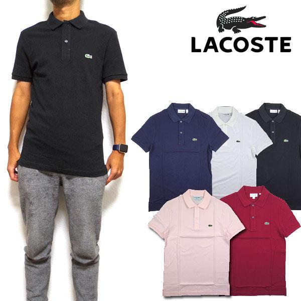 ラコステ LACOSTE ポロシャツ メンズ スリムフィット PH4012 Mens Slim Fit Pique Polo ゴルフ S M L XL