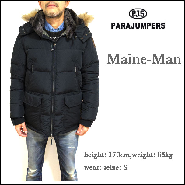 parajumpers womens long bear coat; parajumpers para jackets down jacket men maine black protection against the cold outer hf02 541