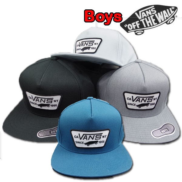 VANS  vans   kids   cap   snapback  FULL PATCH CAP  youth   child   emblem    hat  VN-0U8G9RJ 445671e3d23
