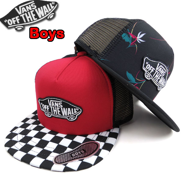83fb00ae2 Vans VANS kids mesh cap CLASSIC PATCH TRUCKER PLUS CAP Jr. trucker hat new  work