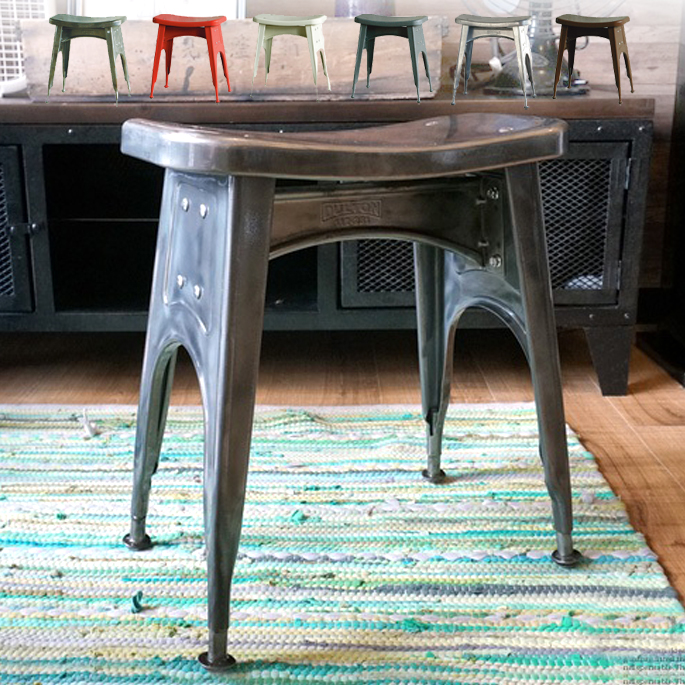 Kitchen stool (キッチンスツール)112-281DULTON(ダルトン) 全6色(Hot-dip-Galvanized・Raw・Ivory・Red・Brown・Hammertone-gray)送料無料