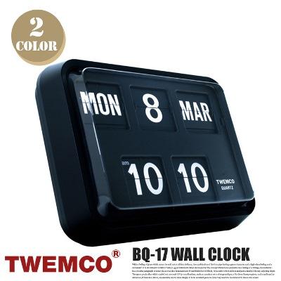 BQ-17 WALL CLOCK(ウォールクロック) パタパタクロック TWEMCO(トゥエンコ) カラー(ホワイト・ブラック) 送料無料