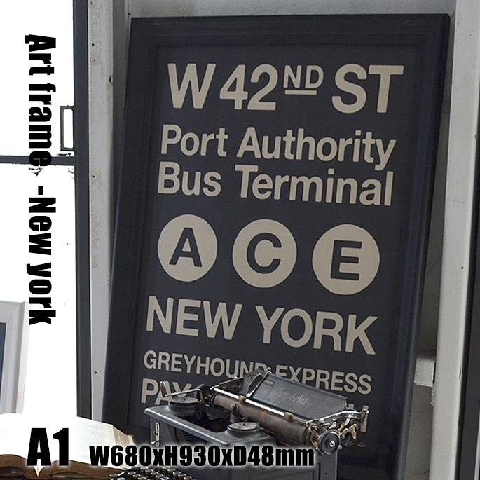 Art Frame New york(アートフレーム ニューヨーク) A1 size 黒フレーム TR-4199(NY) ARTWORKSTUDIO(アートワークスタジオ) 送料無料