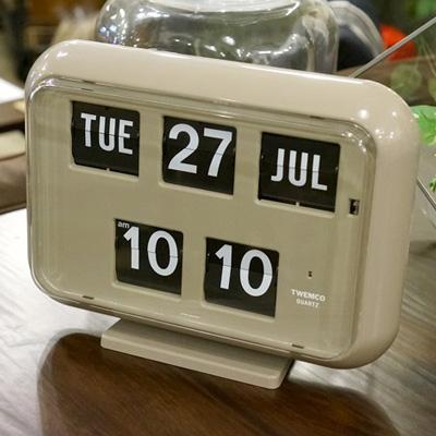 QD-35 WALL&TABLE CLOCK(ウォール&テーブルクロック) パタパタクロック TWEMCO(トゥエンコ) GRAY(グレー) 送料無料