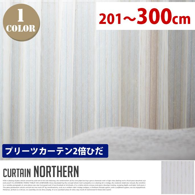 Northern(ノーザン) プリーツカーテン【2倍ひだ】 エレガントスタイル (幅:201-300cm)送料無料