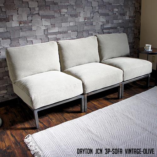 DAYTON JCN 3P-SOFA Vintage-Olive(デイトンジャンクション3P-ソファ ヴィンテージオリーブ) BIMAKES(ビメイクス) 送料無料
