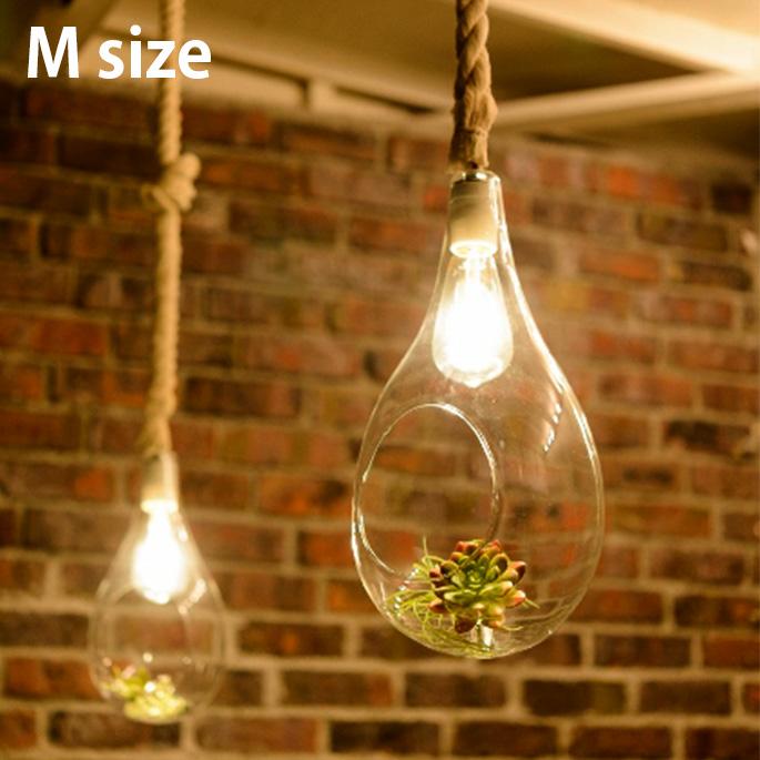 ペンダントライト ボタニックハンギングライトM Botanic Hanging Light M APE-021WH LED ハンキングテラリウム ボタニカル カフェ風 ガラス 植物 LED付属【送料無料】