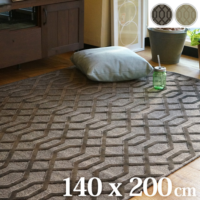 PA625-RUG PA625-ラグ 140×200cm 2カラー BR/BE