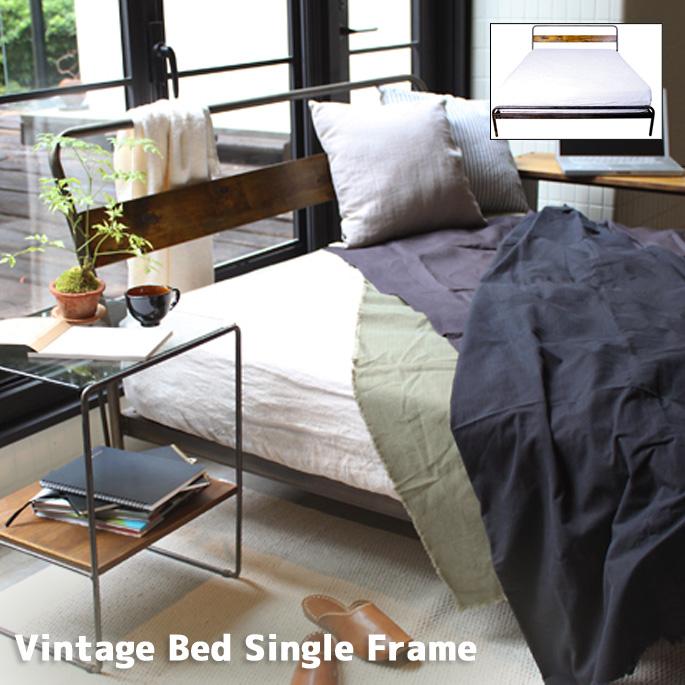 レトロ感漂うおしゃれベッド! ヴィンテージ ベッド シングルフレーム(Vintage Bed Single Frame)