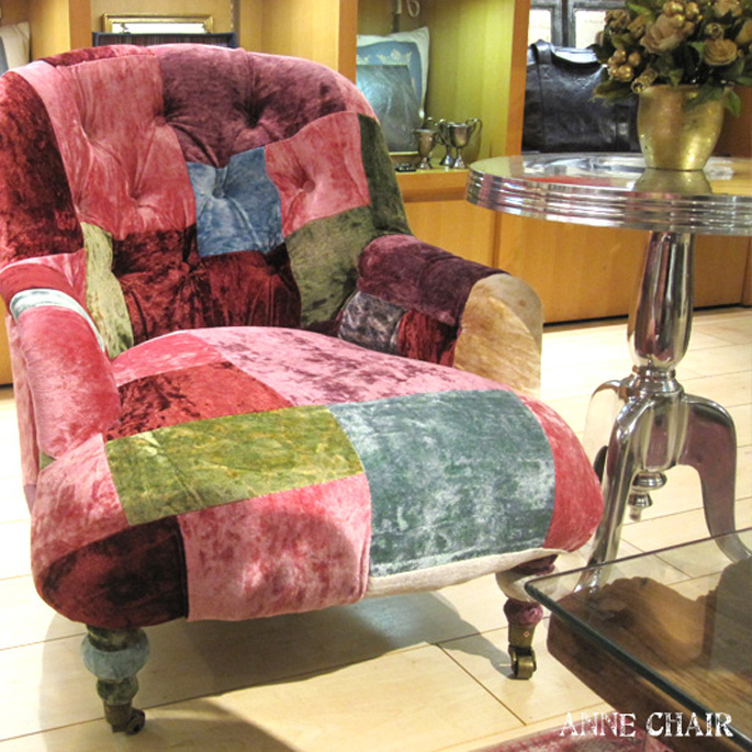 ANNE CHAIR(アン チェア) TIMOTHY OULTON BY HALO(ティモシー オルソン バイ ハロ) VELVET PATCHWORK BOHEME(ベルベット パッチワーク ボヘム) 送料無料