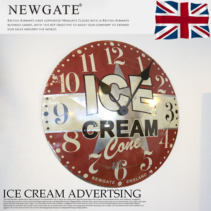 ICECREAMADVERTISING(アイスクリームアドバーティシング) ウォールクロック 掛け時計 NEWGATE(ニューゲート) 送料無料