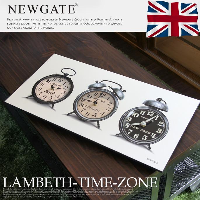 LAMBETHTIMEZONE(ランベスタイムゾーン) ウォールクロック 掛け時計 NEWGATE(ニューゲート) 送料無料