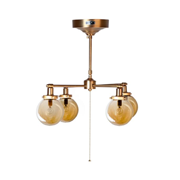 レトロ感あるアンティーク調のゴールドフレームとアンバーガラスのバランスが絶妙な雰囲気を醸し出す♪ MOON CROSS LAMP(ムーンクロスランプ) GS-014GD ハモサ(HERMOSA) 送料無料 あす楽対応 あす楽対応