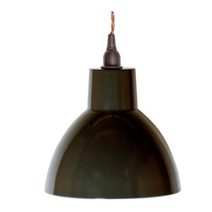 ゴールドソケット&ツイストコードでスタイリッシュな日本製琺瑯ランプ♪ OWL LAMP(オウルランプ) EN-023 ハモサ(HERMOSA) ペンダントライト 全8色(GD-BK、GD-BR、GD-DGY、GD-WH、SV-BK、SV-BR、SV-DGY、SV-WH) 送料無料