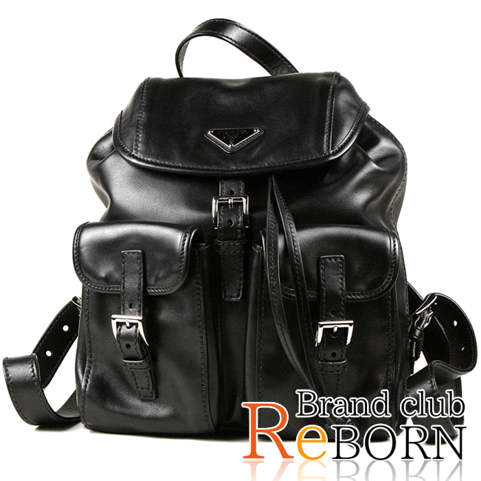 9278f2da1a6576 Prada /PRADA backpack / rucksack SOFT CALF (soft calf / oar leather) NERO  ...