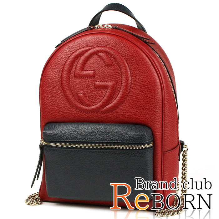 9f25a5d8161153 Gucci /GUCCI SOHO (Soho) chain backpack / rucksack interlocking grip G  emboss leather ...