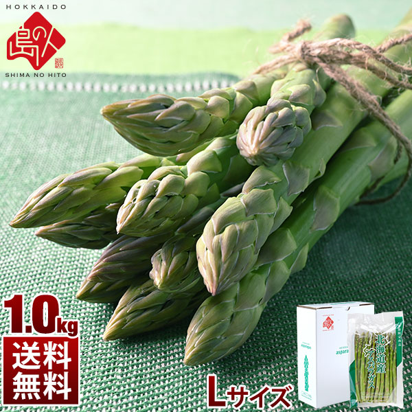 北海道産 グリーン アスパラガス Lサイズ 1.0kg 【送料無料】