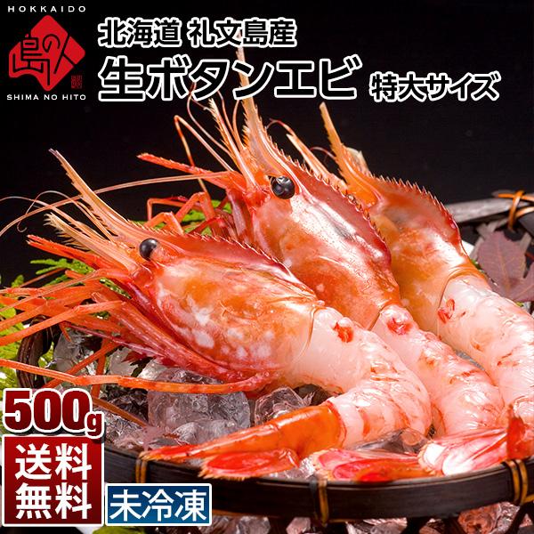 礼文島産 生ボタンエビ(特大)500g