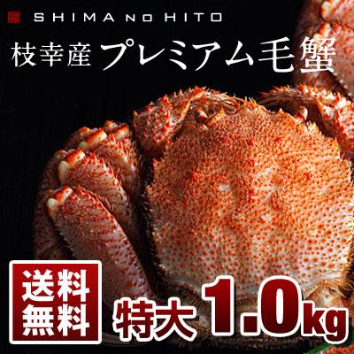 枝幸プレミアム毛蟹  1.0kg