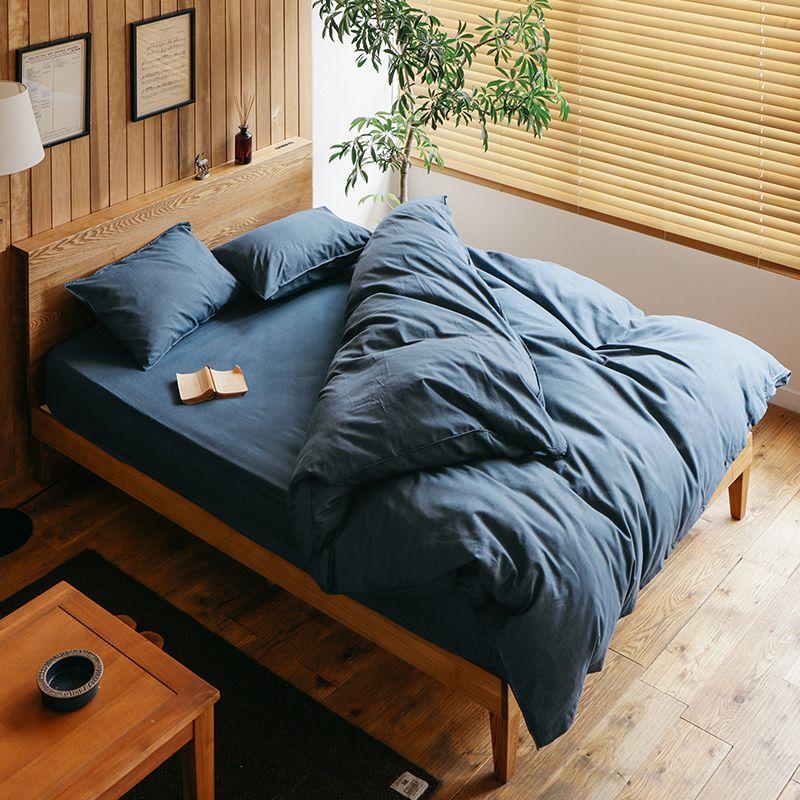 寝具カバーセット Light denim ダブル 4点セット 綿100% 西海岸 ヴィンテージ メンズ デニム おしゃれ あす楽対応
