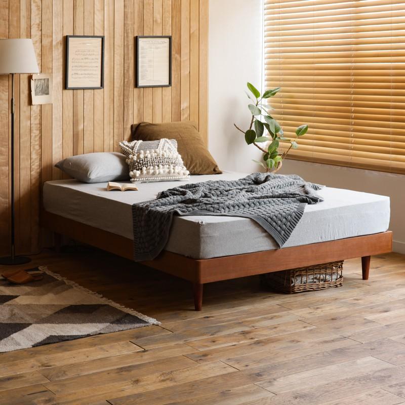 新品本物 ベッド NOANA-BROWN ヘッドレス シングルサイズ ナノテックプレミアム ポケットコイル マットレス付き 寝具 北欧 無垢材 ブラウン 送料無料, USA-Hobby-Land 30db845d