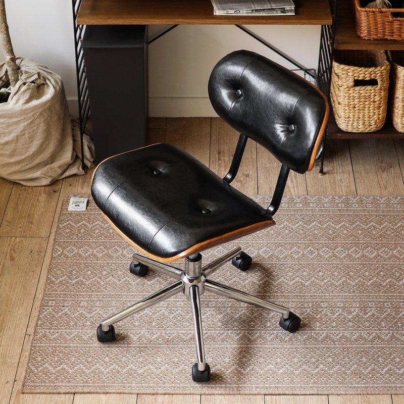 デスクチェア ヴィンテージ 西海岸 ブルックリン 北欧 モダン レザー 木製 おしゃれ おすすめ 椅子 自宅 オフィス キャスター ダンディチェア KNOX